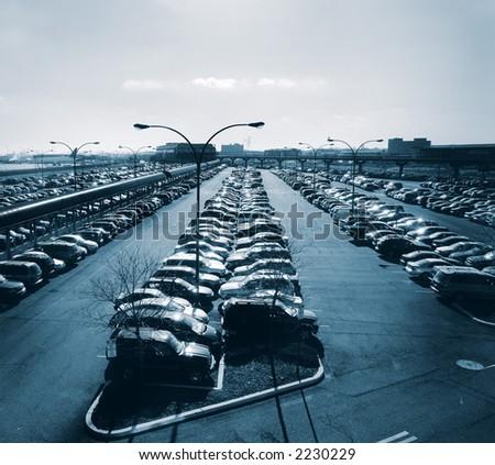 Parking lot at Newark Airport