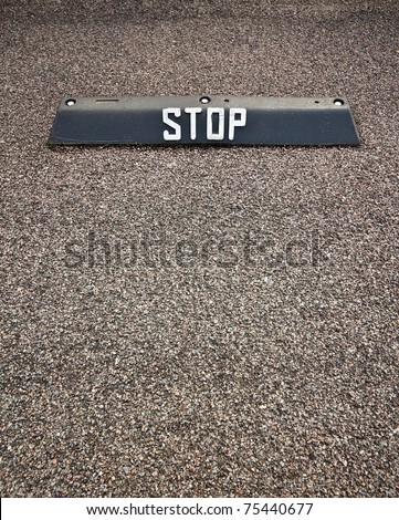 Parking lot stop sign. Can be used as concept background.