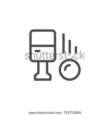 Parking machine line icon isolated on white