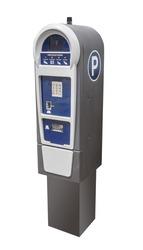 Parking meter for credit cards