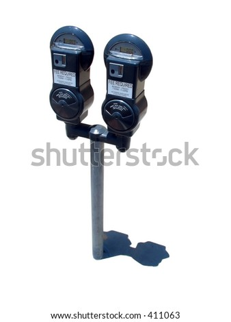 parking meter isolated on white