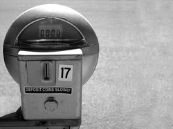 Parking Meter with Copy Space