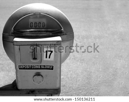 parking meter with copy space   ...