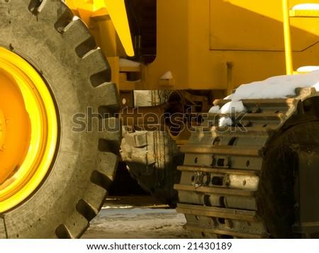 Parking of heavy building technics