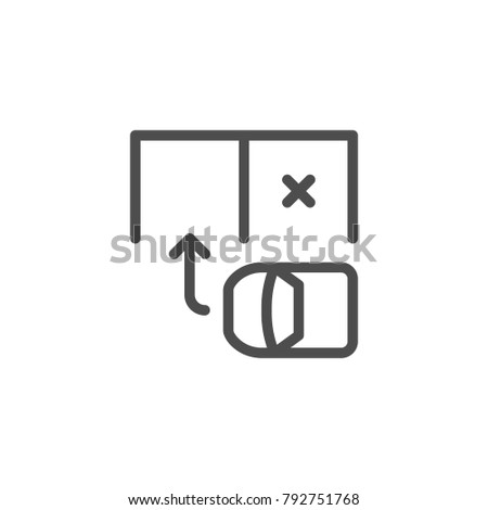 Parking scheme line icon isolated on white