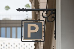 Parking sign on the house