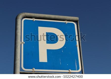 parking sign symbol #1022427400