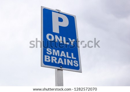 Parking signal . parking signal reserved for certain categories #1282572070
