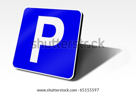 parking traffic sign, 3d illustration