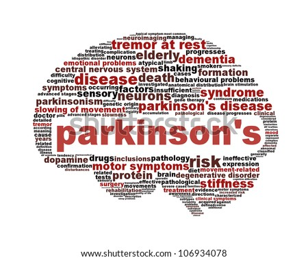 Parkinson's disease symbol isolated on white. Mental health symbol concept
