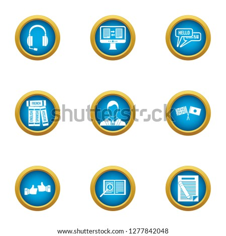 Parley icons set. Flat set of 9 parley icons for web isolated on white background