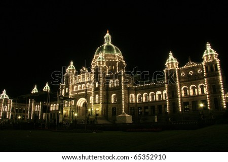Parliament Buildings in Downtown Victoria, Vancouver Island,  BC, Canada