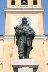 Parma, Italy : statue of Garibaldi in Square Garibaldi