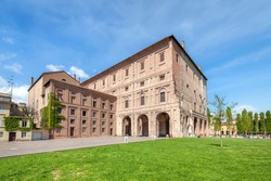 Parma, Italy. View of Palazzo della Pilotta - 16th-century palace complex in historical centre of the city