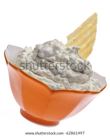 Parmesan Artichoke Dip Isolated on White with a Clipping Path.
