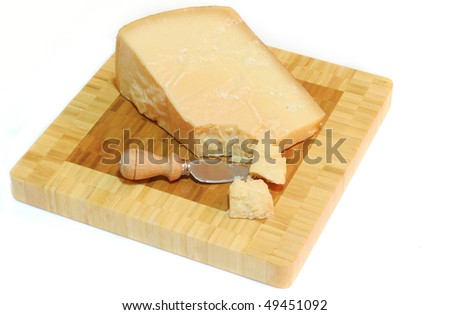 parmesan cheese with knife
