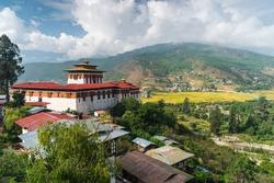 Paro or Rinpung dzong, traditional Bhutan temple in Paro city, Bhutan, Asia