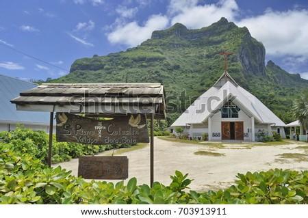 Paroisse St Pierre-Celestin in Bora Bora, French Polynesia