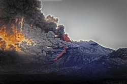 Paroxysm of Etna in the afternoon of February 16, 2021