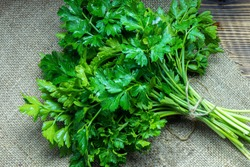 Parsley healthy foods from the garden, vitamin salads, fresh herbs