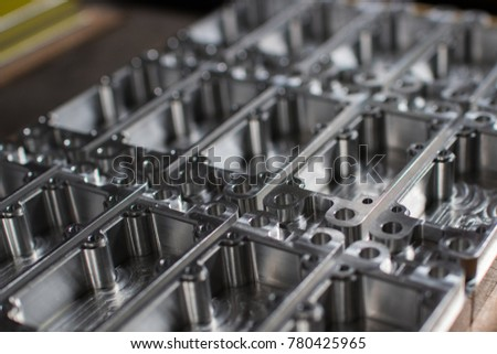 Part machining at machining center #780425965