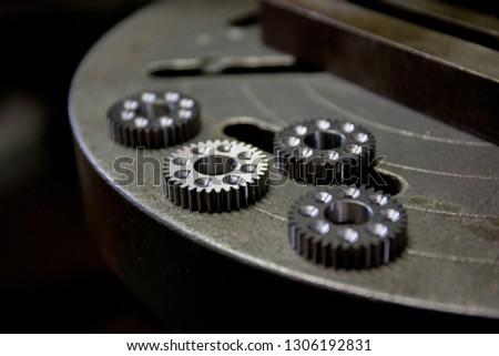 Part machining with drilling machine #1306192831