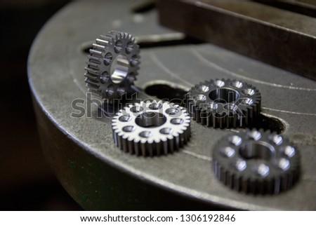 Part machining with drilling machine #1306192846