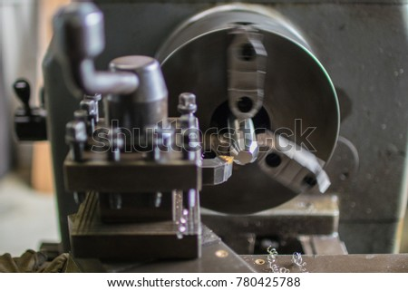 Part machining with general-purpose lathe #780425788