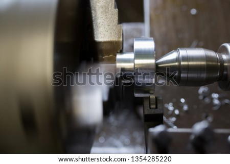 Part machining with lathe #1354285220