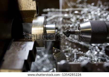 Part machining with lathe #1354285226