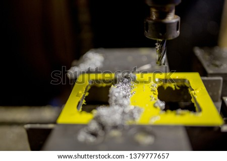 Part milling with milling cutter #1379777657