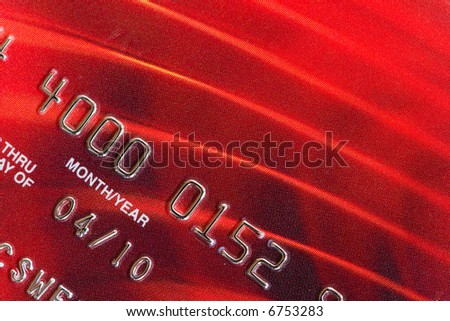 Part of a credit card close-up