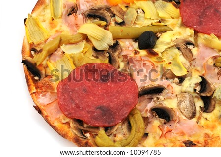 Part of a pizza