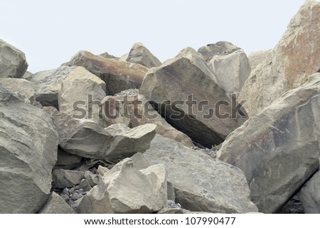part of a stone pile with big stones