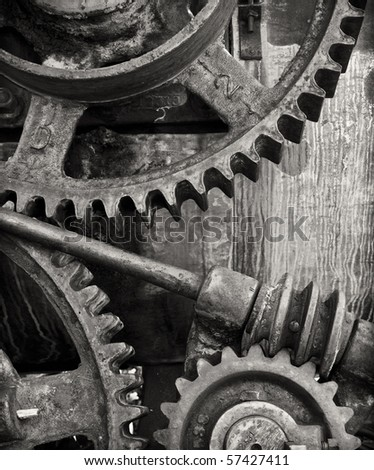 Part of an old machine gear somewhere in the Western USA - stock photo
