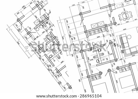 part of architectural project, construction plan, architectural plan, architectural background