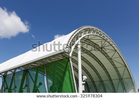 Part of architecture abstract of a plastic dome #325978304