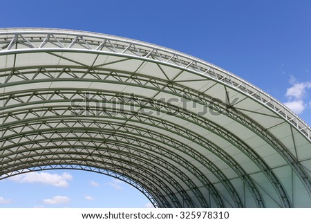 Part of architecture abstract of a plastic dome #325978310