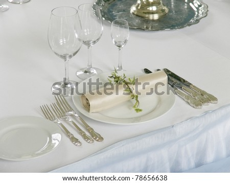 part of beautiful served table