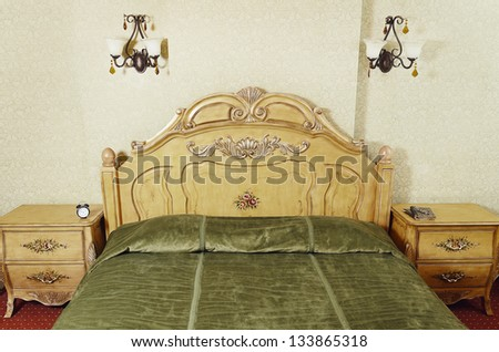 part of bedroom interior with...