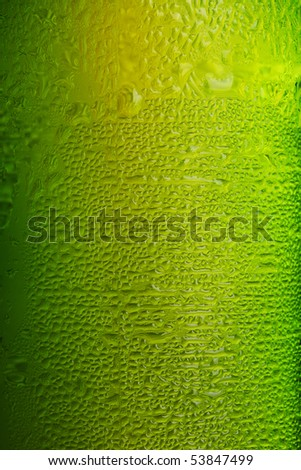 Part of beer bottle on white background