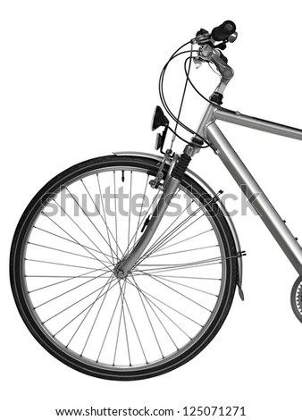 Part of bike isolated ( clipping path)