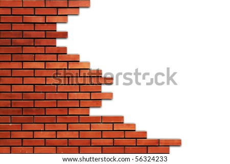 Part of brick wall - stock photo