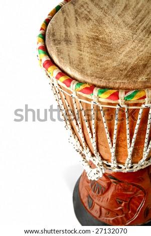 Part of brown african drum