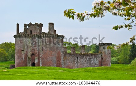 part of Caerlaverock Castle near Dumfries, Scotland
