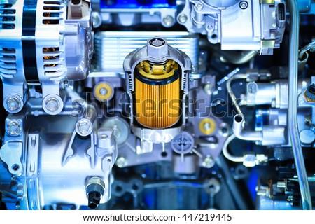Part of car engine,solar filter