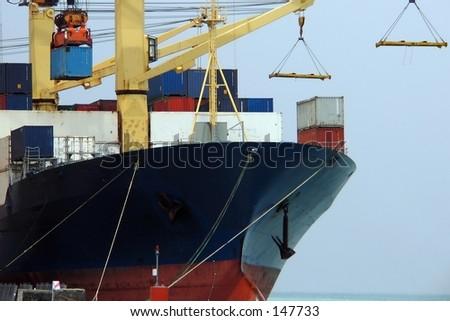 Part of cargo ship