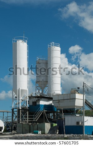 part of cement factory at the sunny day #57601705