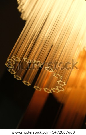 Part of chandelier lamp hang on ceiling. Decorative elegant, simple and contemporary concept #1492089683