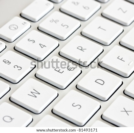 Part of computer keyboard on grey See my portfolio for more
